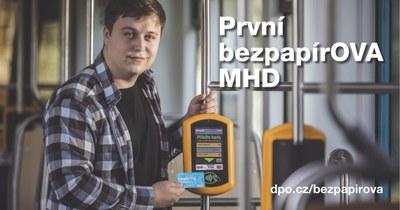 Dopravní podnik Ostrava ukončí k 1. 1. 2020 prodej papírových jízdenek