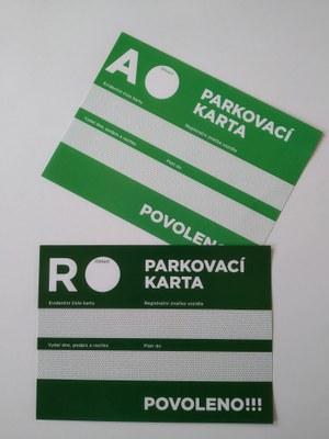 Nové parkovací karty na rok 2021 budeme vydávat od letošního 1. prosince