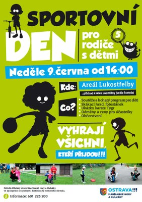 Pátý ročník Sportovního dne pro rodiče s dětmi