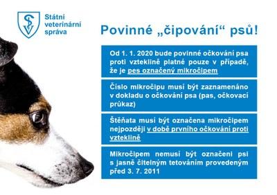 Povinné označování psů