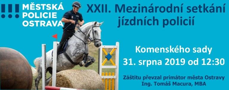 Pozvánka na XXII. mezinárodní setkání jízdních policií