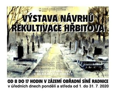 Výstava návrhů Rekultivace hřbitova prodloužena do konce prázdnin