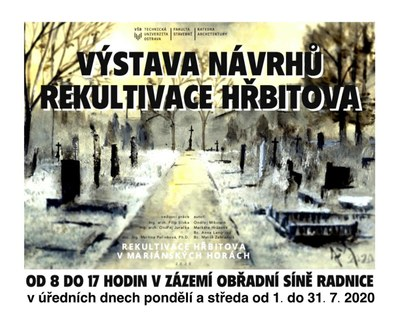 Výstava návrhů Rekultivace hřbitova v Mariánských Horách už jen do konce prázdnin