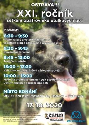 XXI. ročník setkaní opatrovníků útulkových psů.